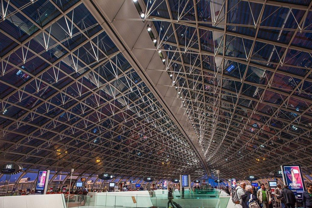 Gates at Terminal at Charles de Gaulle Airport in Paris, France