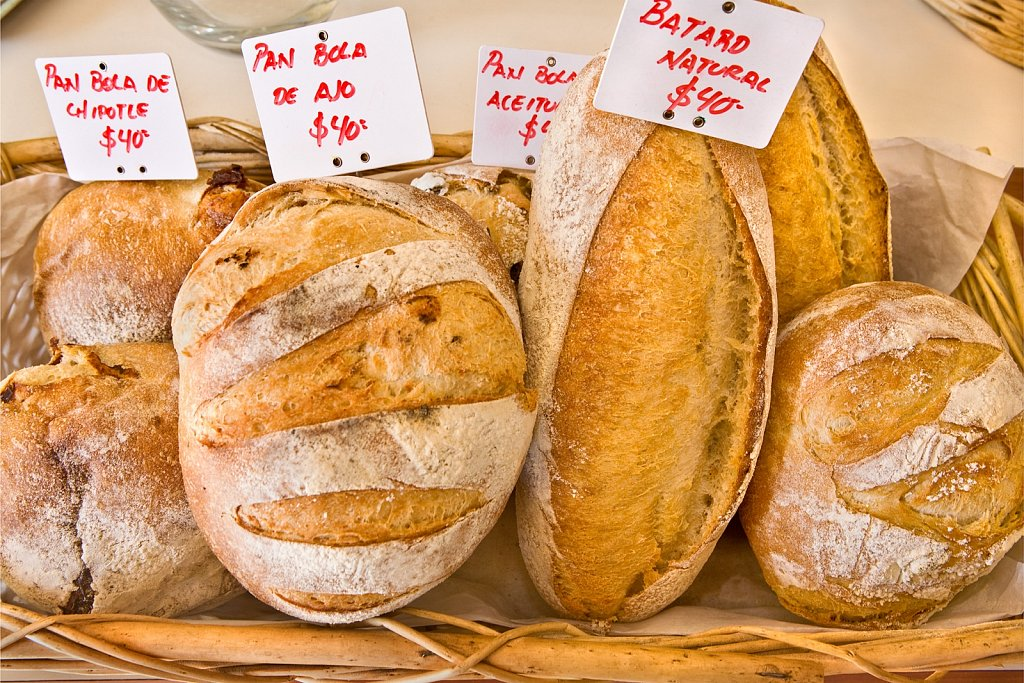 Fresh bread in bakery in San Jose del Cabo, Mexico