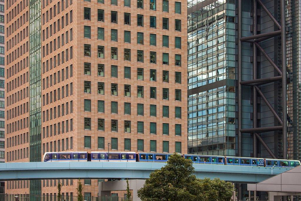 Yurikamome train in Shiodome, Tokyo, Japan
