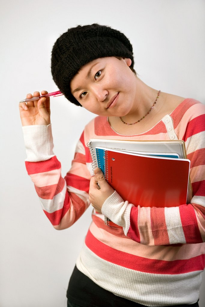 Young Asian woman student