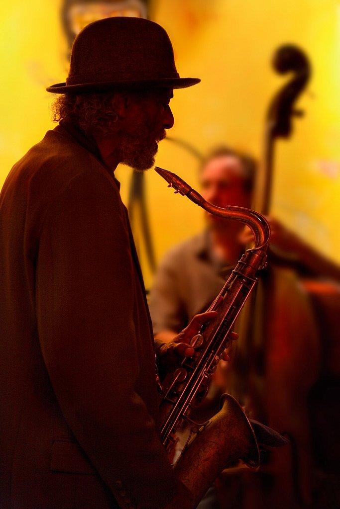 Saxophone jazz player