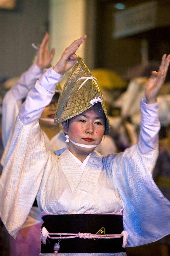Dancer at Awa Dance Festival (Awa Odori), Kagurazaka, Tokyo, Japan