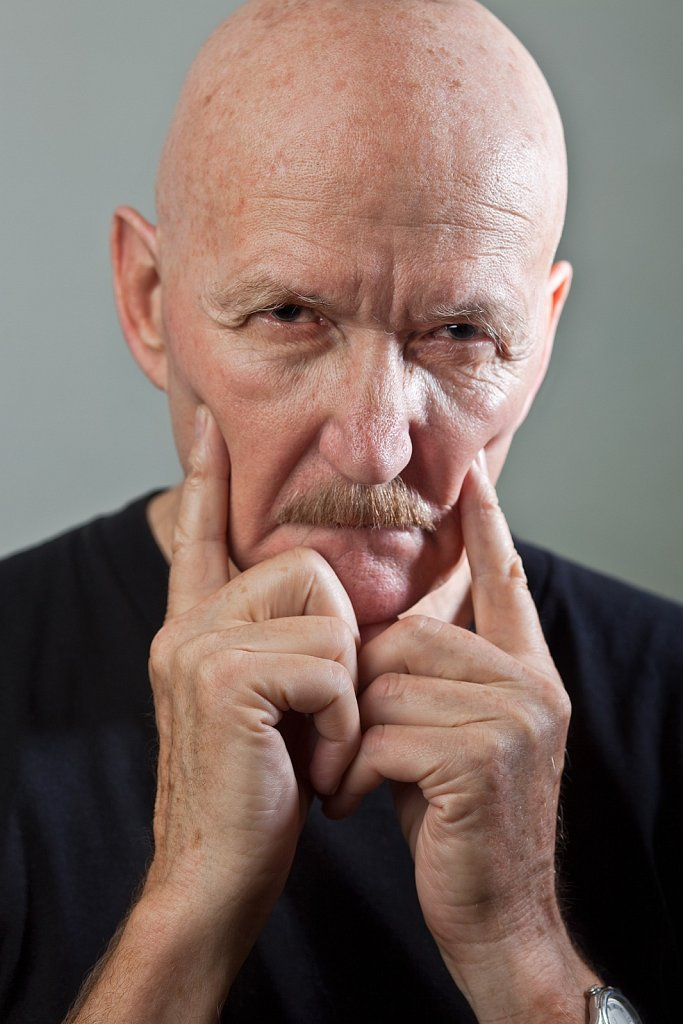 Mature man with a mean look in Los Angeles, California
