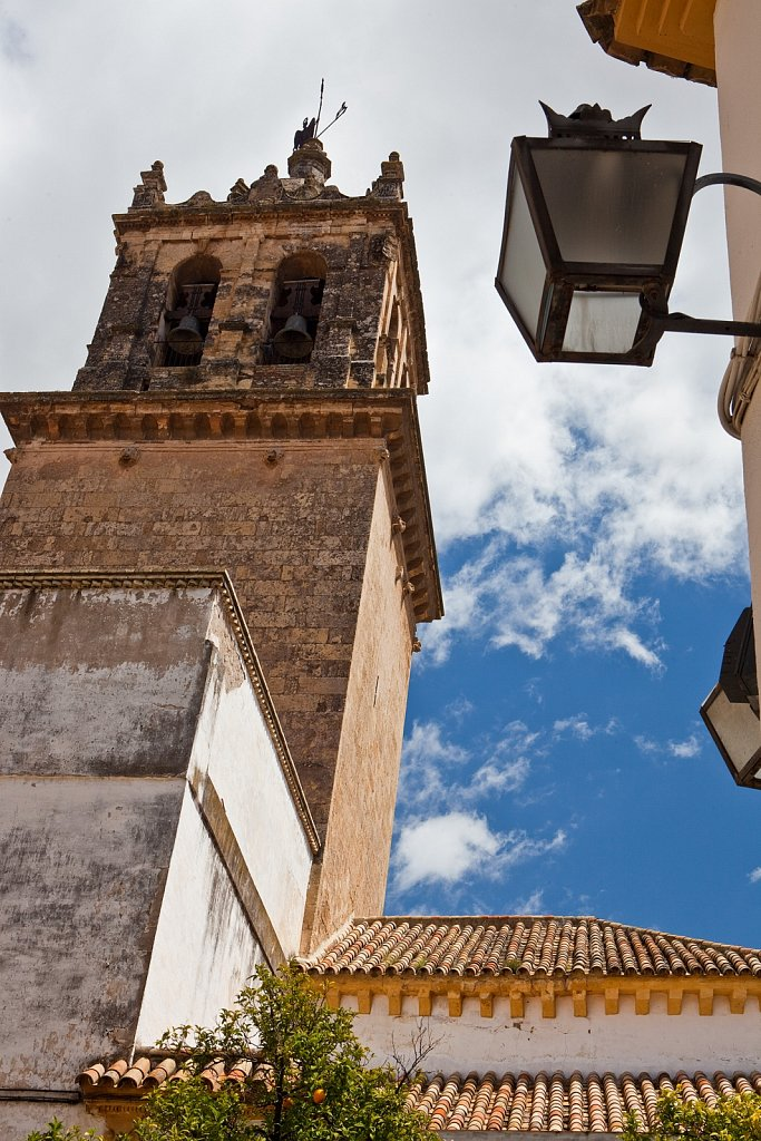 Bell tower of cathedral, Old Quarter, Cordoba, Spain