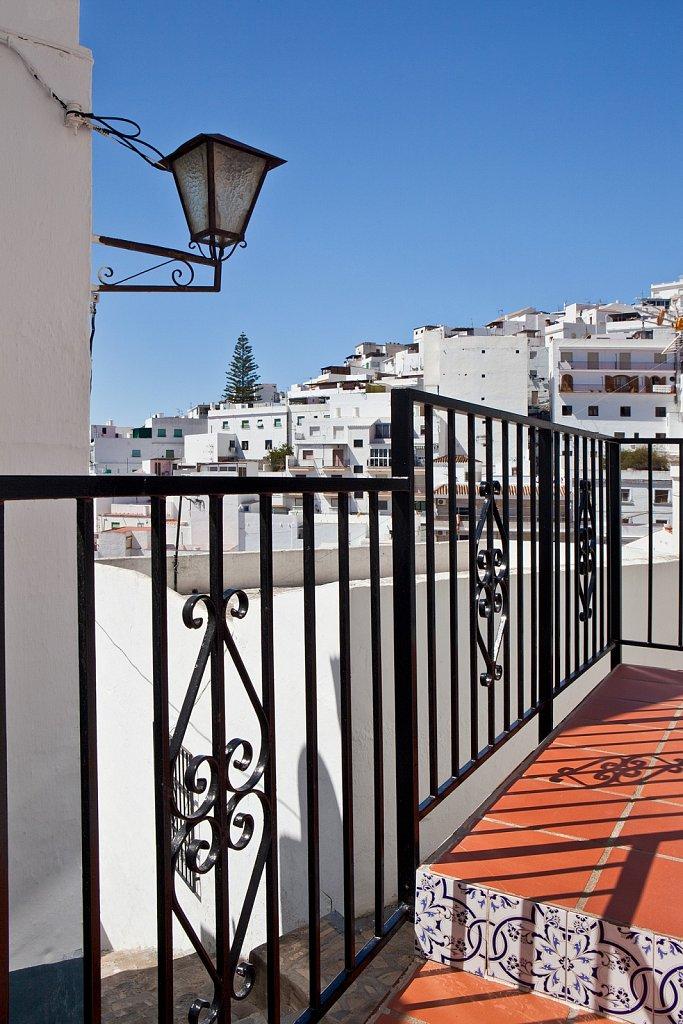 Passageway, hillside houses in Salobrena, Spain