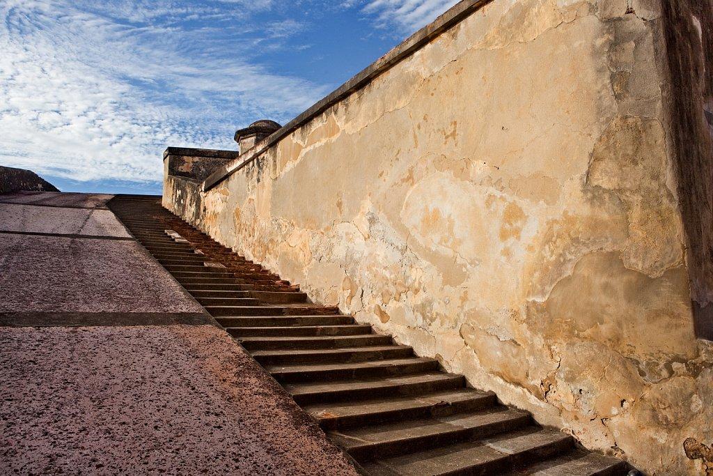 Ramp at Fort San Cristobal in Puerto Rico