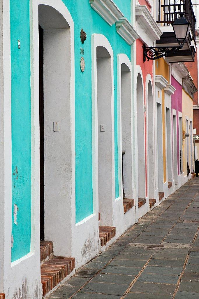 Colorful walls in Old San Juan, Puerto Rico