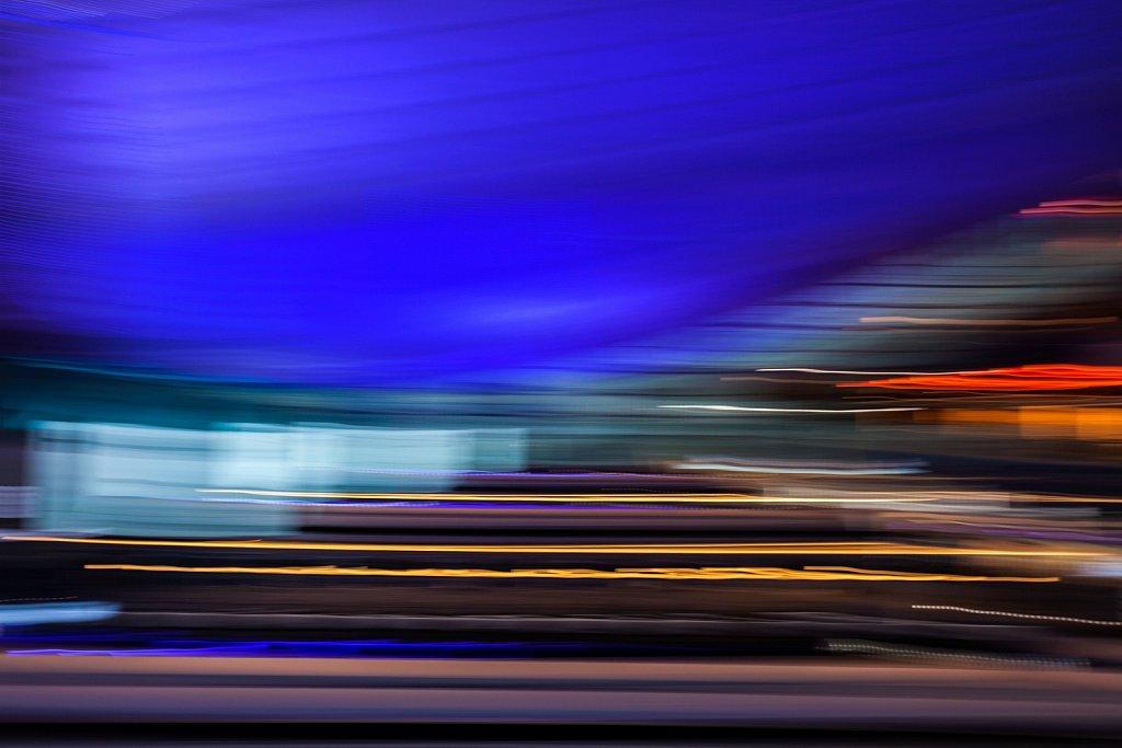 Motion blur of colors, Tokyo, Japan