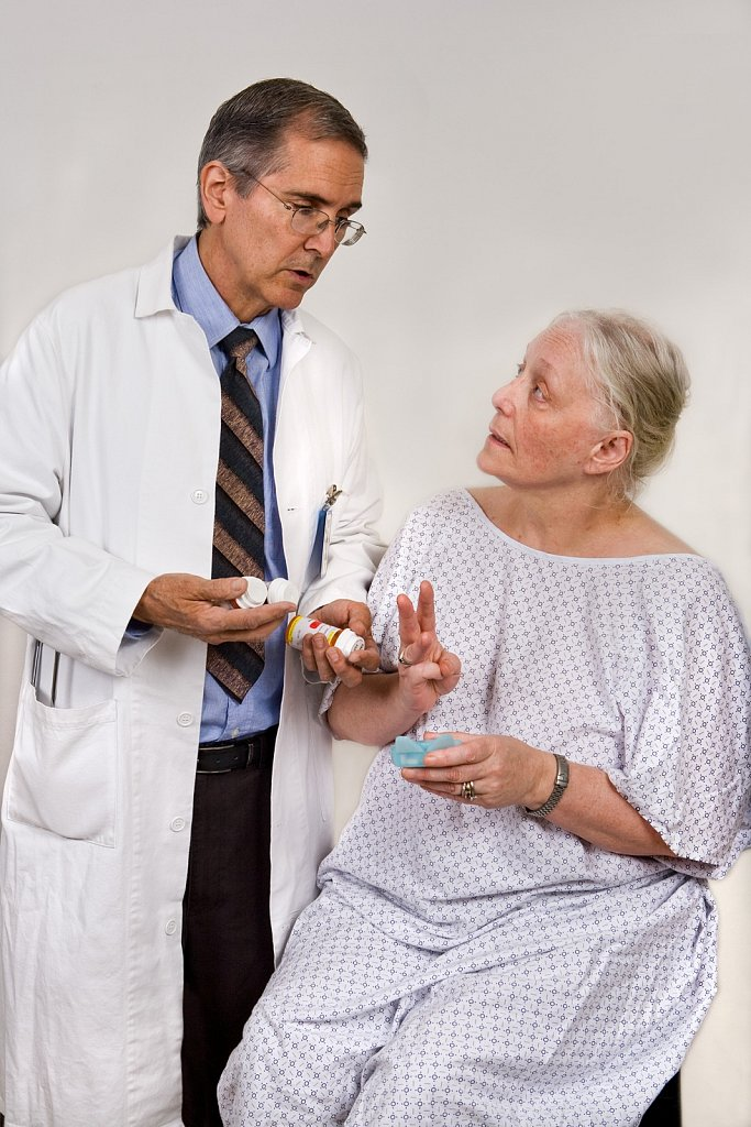 Doctor with patient