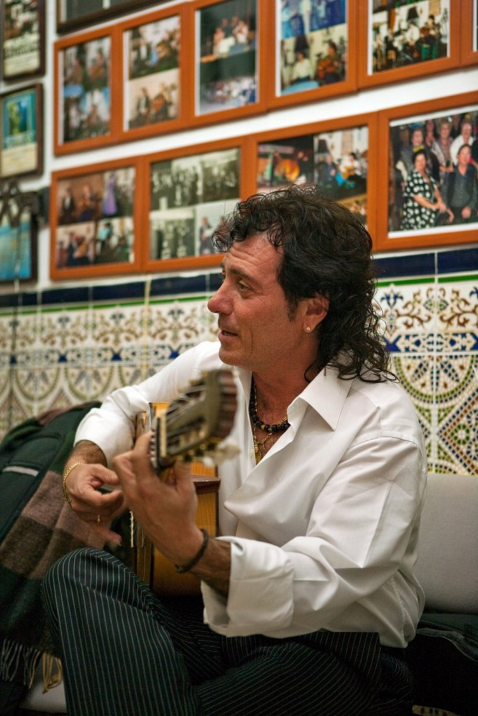Flamenco guitarist in Ceuta, Spain